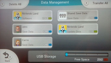 Save data is packaged with the game data.